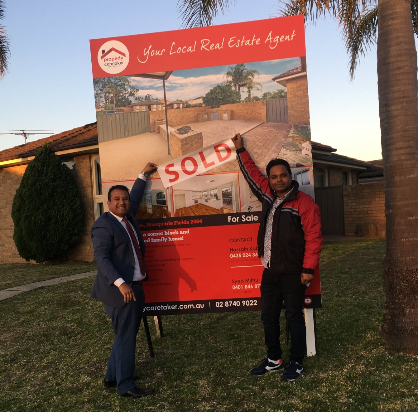 1 Ficus place macquaire fields NSW 2564 sold sticker with buyer